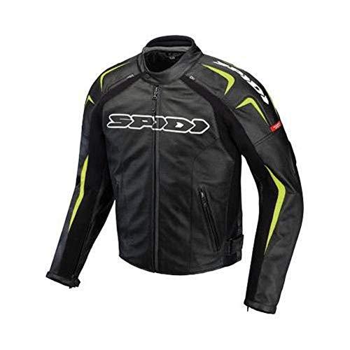 Spidi Motorcycle Racing Track Leather Jacket 56EU / 46US Black/Flo Green New