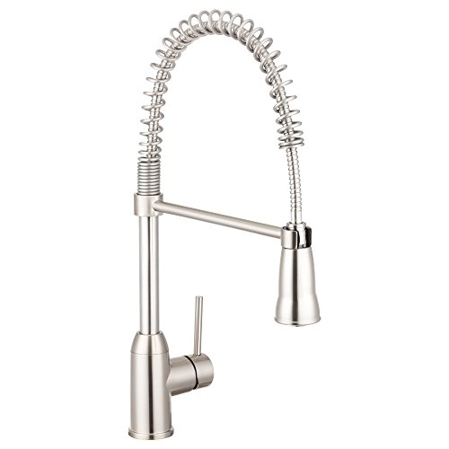 Pacific Bay Rainier Pull-Down Kitchen Sink Faucet (Brushed Satin...