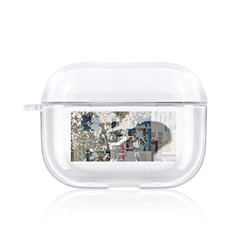 SHUOHAO Funda inalámbrica para Auriculares para AIPORDS Pro Caso Transparente Soft TPU Fuera para Aip ORDS Pro 3 Protector Accesorios (Color : 1070)