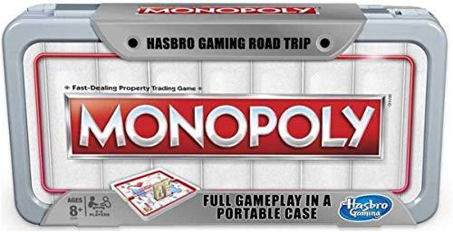 Hasbro Gaming Road Trip Series Monopoly Juego de Mesa portátil para Llevar...