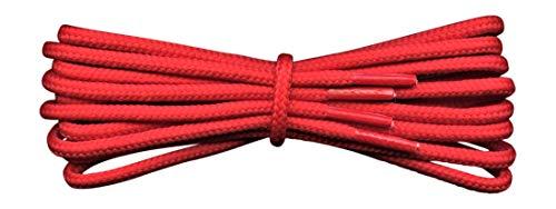 Fabmania Cordones Fuertes - Rojo - 4 mm redondos -