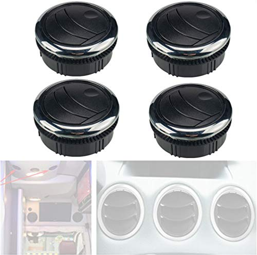 WXFEXIA RV Round Air Outlet Vent - Dashboard Air Conditioning Deflector Exhaust Grille with Vent Plating HVAC Replacement Accessories for Trailer, Caravan, Boat, Yacht, Car (Φ87/75mm)