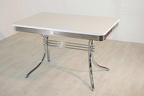 wendland-moebel.de Hausmarke Bistrotisch King6 American Diner Polarweiß 120x80cm
