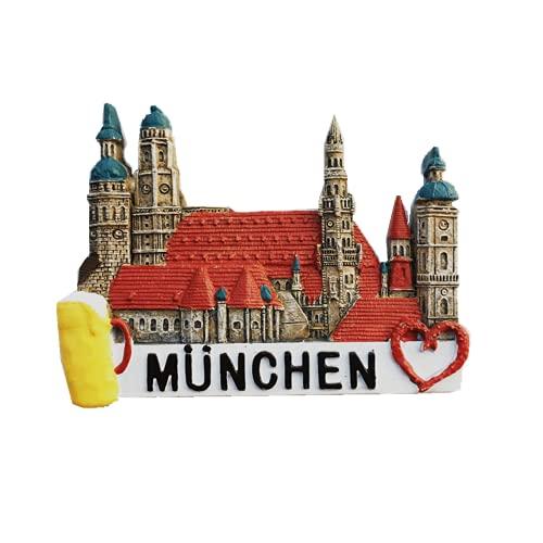 Imán de nevera 3D Munich Baviera Alemania para regalo de recuerdo magnético