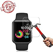 2 Pack Apple 38mm Watch Screen Protector (38mm Series 3/2/1 Compatible) BBInfinite Full Coverage Anti-Scratch/Anti-Fingerprint/High Definition Screen Protector Compatible Apple Watch 38 mm