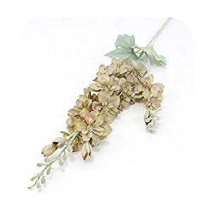 F-pump 87 cm Violet Delphinium DIY Orchid Bouquet Silk Hyacinth Continental Artificial Flowers Wedding Home Party Christmas Decoration-Coffee