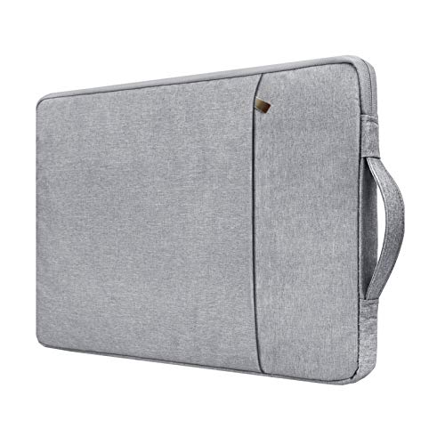 """RAINYEAR Laptop Sleeve Case Compatible with 2021 New M1 2016-2020 13 Inch MacBook Air Pro 13.3"""" Chromebook Notebook,Handbag with Handle Front Pocket Briefcase Polyester Waterproof Computer Bag,Gray"""