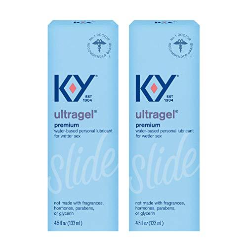 K-Y Ultragel Personal Lubricant Liquid Gel - 4.5 oz, Pack of 2