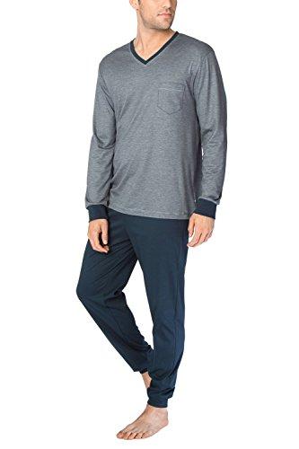 CALIDA Herren Comfy Zone Pyjama Zweiteiliger Schlafanzug, Schwarz (Onyx 808), Large