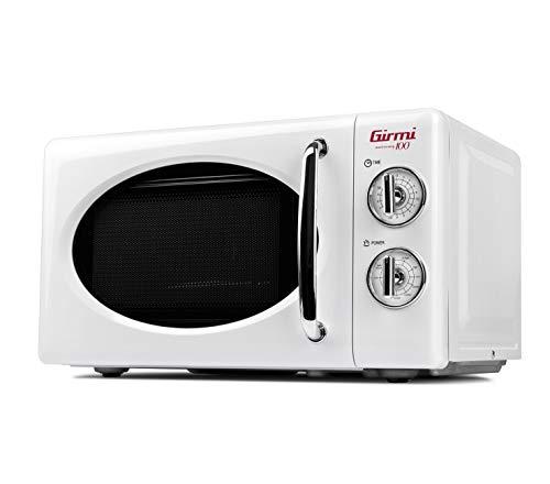 Girmi FM2101 - Horno microondas combinado, 800 W, 20 litros, metal, blanco