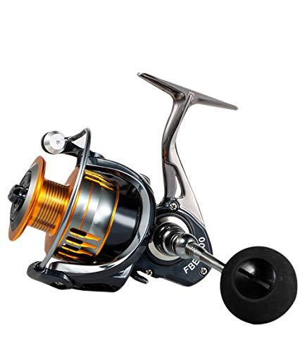 Eachbid Carretes de Pesca Giratorios, de Metal Intercambiable Izquierda / Derecha, FBE Rueda de Pesca de Cebo de Pescado, Rueda de Fundición de Alta Velocidad (FBE7000)
