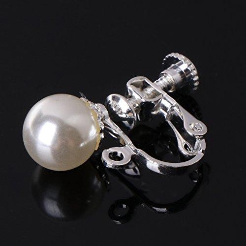 Haptian Oorbel Set, Oor Clips Oorbellen Parel Oor Studs Sieraden Vrouwen Geen Piercing Pijnloze Decoratie Zilver