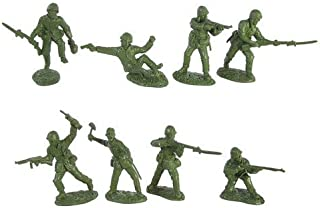 WWII United States Marines Plastic Green Army Men: 16 piece set of 54mm Figures - 1:32 scale
