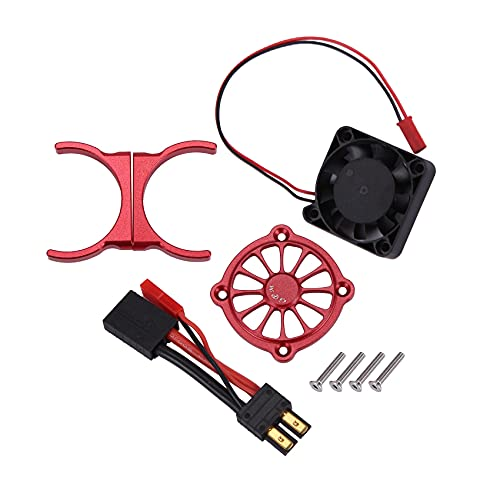 wivarra Ventilador de RefrigeracióN del Motor de Piezas de AutomóVil de Control Remoto para 1/10 e REVO 2.0 RC Piezas de AutomóVil Accesorios Multicolores, Rojo