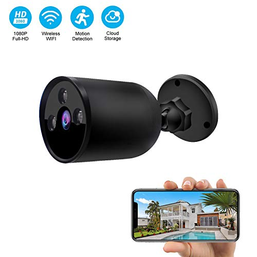 Outdoor WiFi Security Camera 1080P 2.4G WiFi Night Vision Security Cameras with Two-Way Audio,Cloud...