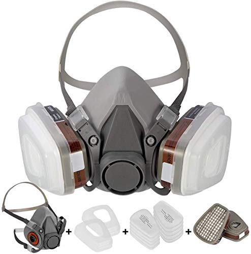 FNWD 7 in1 Large Half Face Cover Facepiece 6200 Spray Paint Protective Mask Suit(for 6200 Respirator)