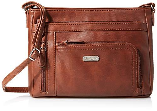 MultiSac Damen Summerville East West Crossbody Bag Umhängetasche, Cognac (Vintage Nappa), Einheitsgröße