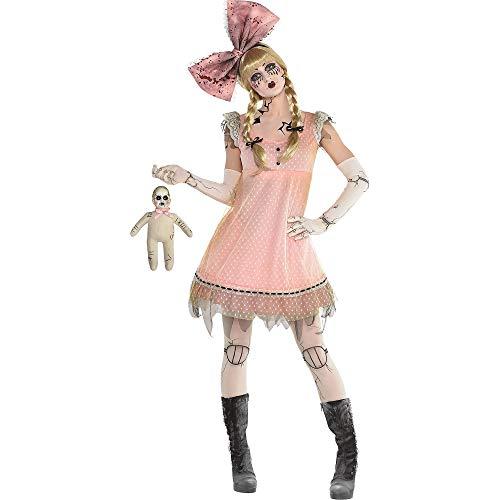 amscan Adult Pink Creepy Doll Dress, L/XL - 1 Pc, lxl