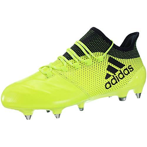 adidas Performance X 17.1 - Botas de fútbol para Hombre (Piel), Color Amarillo, 7, Amarillo