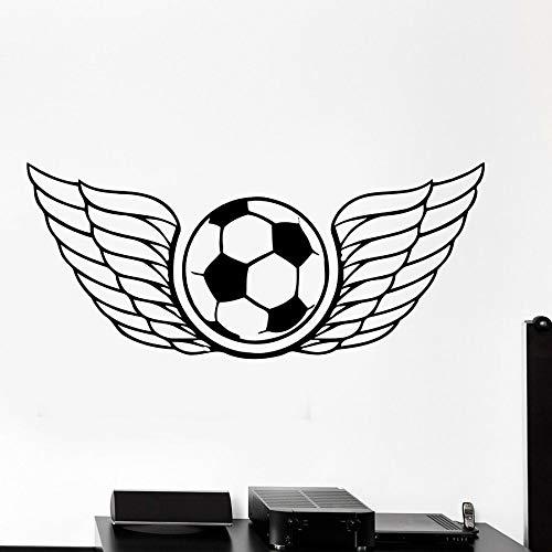 HFDHFH Calcomanía de Pared Alas de fútbol Pelota de fútbol Deportes Vinilo Etiqueta de la Pared Estilo Fresco Dormitorio Estadio Club Deportivo Decoración Interior Mural