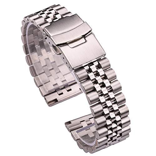 HPTQJ Strap de reloj 3D 22 mm 24 mm de acero inoxidable reloj deportivo Pulsera de reemplazo de liberación rápida Tornillo de reemplazo Correa de reemplazo Reloj cónico Banda para hombres Mujeres Plat