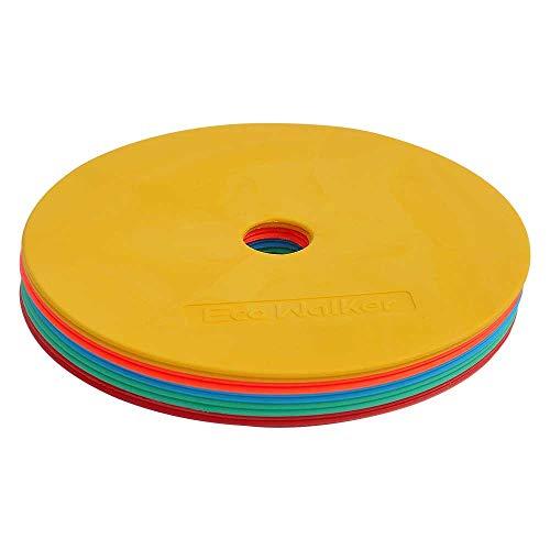 Eco Walker Marcador de cono plano para fútbol, baloncesto, deporte, velocidad, agilidad y entrenamiento (multicolor)