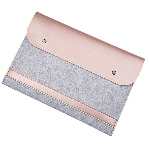 """Laptoptasche Notebooktasche Laptophülle Schutzhülle Notebook Computer Fall Tablette Aktenkoffer für 11.6-15.4 Zoll Ultrabook für MacBook 13.3\"""" Rose Gold"""
