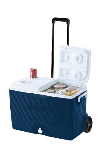 Rubbermaid Ice Chest/Cooler, Blue, 60-quart Wheeled (FG2A9002MODBL)