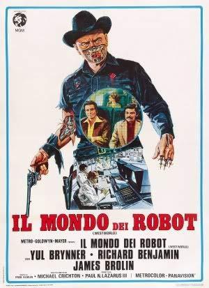 Westworld - YUL Brynner - Italienisch – Film Poster Plakat Drucken Bild – 43.2 x 60.7cm Größe Grösse Filmplakat
