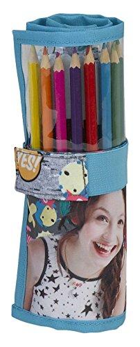 Diseny Soy Luna Stifterolle Schlamper Federmappe Federtasche mit Stiften gefüllt Federmäppchen