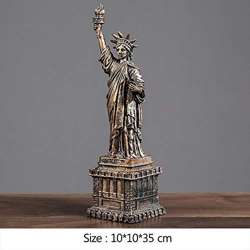 wksee Statue Ornament Statuen Dekofigur Freiheitsstatue Miniaturmodell Paris Tower Empire State Building Kunstskulptur Für Home Decoration Geburtstagsgeschenke