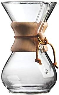 ماكينة تحضير قهوة اسبرسو كلاسيكية، مصنوعة من الزجاج ومخصصة لاسلوب كيميكس في صب القهوة، مزودة بفلتر ووعاء قهوة، سعة 400 مل