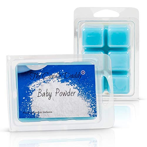 The Candle Daddy Baby Powder Scented Melt- Maximum Scent Wax Cubes/Melts- 1 Pack -2 Ounces- 6 Cubes