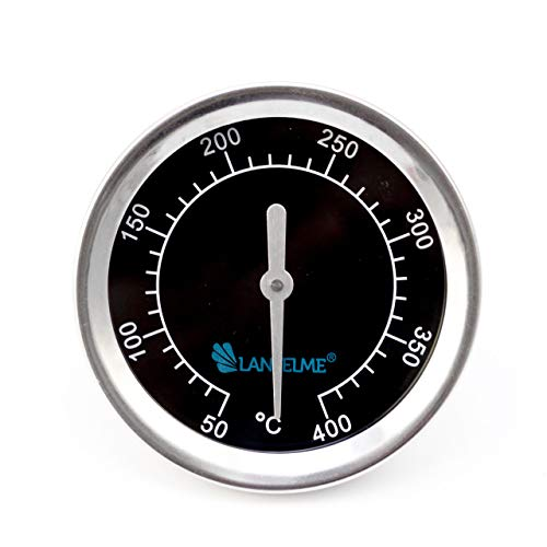 Lantelme 5831 Grill dekselthermometer zwart 400 roestvrij staal inbouw eigen bouw grillkap thermometer analoog bimetaal