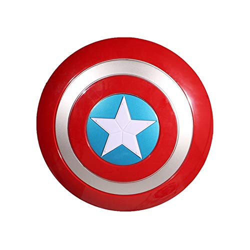Escudo Capitan America 1: 1 Adulto Apoyos de Película Niños Hierro Forjado CapitáN AméRica Shield Vengadores Capitán América Disfraz de Shield