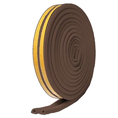 隙間テープ ブラウン 5m ドア すきま風防止 防音パッキン 引き戸 窓 扉 玄関用すきま 虫塵すき間侵入防止 シール テープ