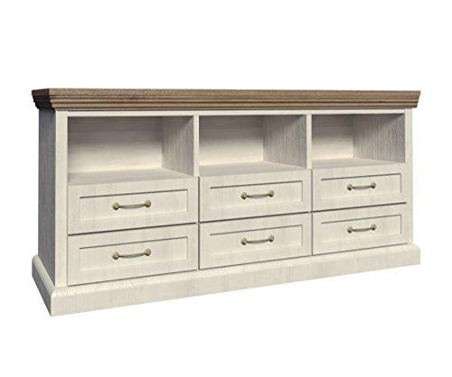 Furniture24 Kommode ROYAL RS, Wohnzimmerschrank, Sideboard mit 6 Schubladen, Tv Schrank, Lowboard, Unterschrank