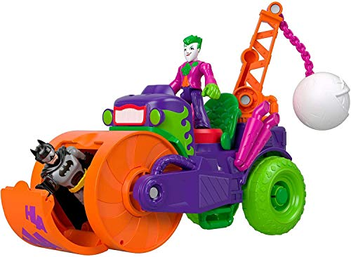 Imaginext DC Super Friends El Joker Vehículo Apisonador, Figuras de Acción de Héroes y Villanos (Mattel GKJ23)