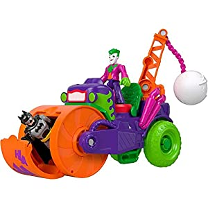 Fisher-Price Imaginext DC Super Friends The Joker Steamroller, Figure and Vehicle Set for Preschool Kids Ages 3 Years… - 41942l9iQ L - Fisher-Price Imaginext DC Super Friends The Joker Steamroller, Figure and Vehicle Set for Preschool Kids Ages 3 Years…