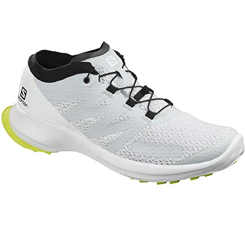 SALOMON Herren Shoes Sense Flow Laufschuhe, Mehrfarbig (Illusion Blau/Weiß/Sicherheitsgelb), 43 1/3 EU