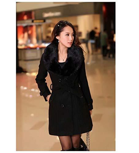 MILASIA wol winterjas voor vrouwen in trenchcoat mantel met lange mouwen