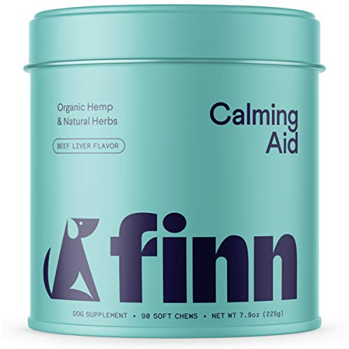 Finn Calming Aid Calming Treats for Dogs - Natural Dog Calming Chews with Melatonin & Chamomile for Stress Support, Calm Behavior, Relaxation - Made in The USA, 90 Soft Chew Treats