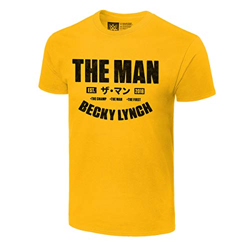 WWE Becky Lynch The Man Est. Camiseta amarilla auténtica de 2018' -  Amarillo -...