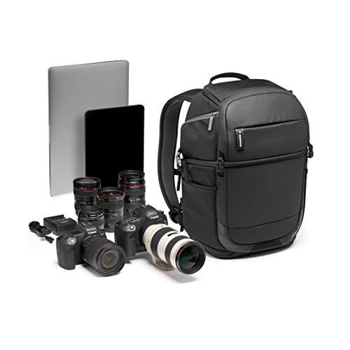 Manfrotto MB MA2-BP-FM Advanced² Fast - Mochila para cámara y portátil, acceso por ambos lados, para DSLR y sin espejo con objetivo, divisor acolchado convertible, enganche trípode, tela revestida