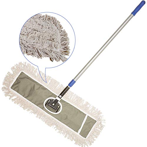 JINCLEAN 24' Industrial Class Cotton Floor Mop | Dry to Attract dirt, dust Or Hardwood Floor...