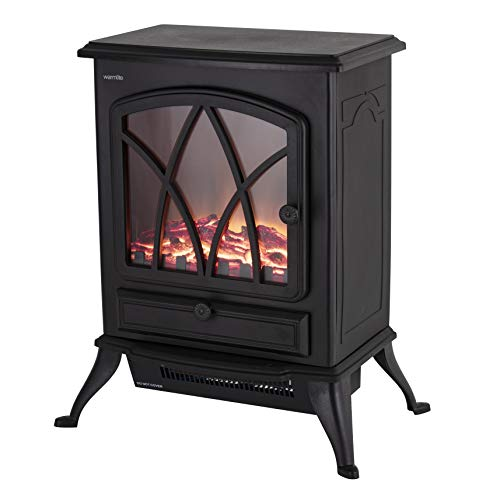 Warmlite Stirling 2 KW Compact Electric Freestanding Stove Fire with Realistic LED Log Flame Effect