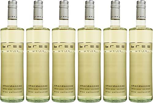 Bree Chardonnay Weißwein IGP halbtrocken aus Frankreich 6er Pack (6 x 0.75 l)