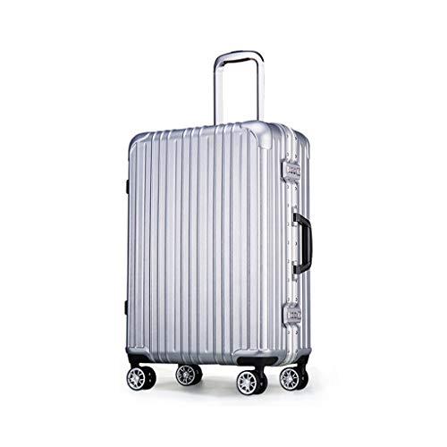 DKH-Suitcases Aluminium Frame Trolley Case Stille Vliegtuigen Wiel In het buitenland Bagage Grote Capaciteit Reiskoffer Bagage Sets Koffers