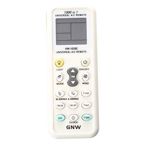 SODIAL(R) Aire Acondicionado de Control Remoto Mando a Distancia-Pantalla LCD Universal A/C Mando a Distancia para el Aire Acondicionado de K-1028E
