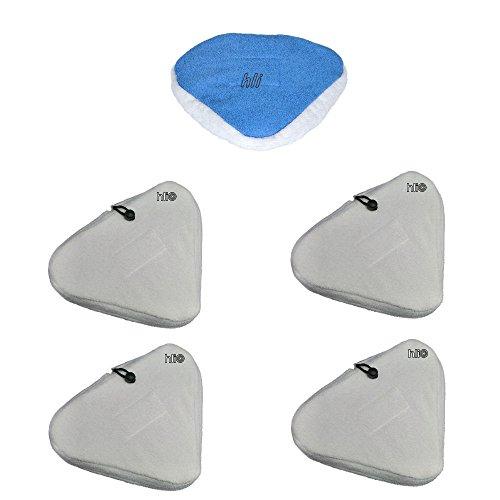 5 Stück Bodentücher von und für Aqua Laser® Gold/Gold plus Dampfbesen/Dampfreiniger